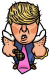 Illustration of Donald Trump by Alexander Hunter