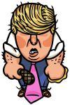 Illustration of Donald Trump by Alexander Hunter